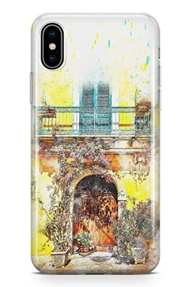Lopard iPhone Xs Max Kılıf Silikon Arka Kapak Koruyucu Güzel Balkonum Desenli Full HD Baskılı Renkli